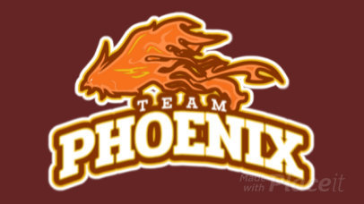 Animated Gaming Logo Template Featuring an Angry Phoenix Illustration 21t-2858