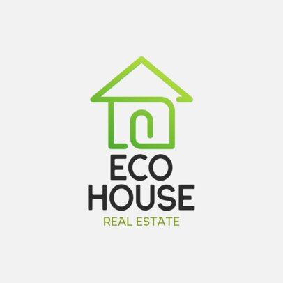Logo Maker for an Eco Houses Real Estate Agency 561b-el1