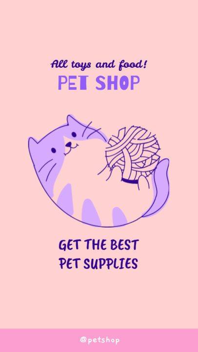 Pet Shop Instagram Story Generator with a Kitten Illustration 2145d
