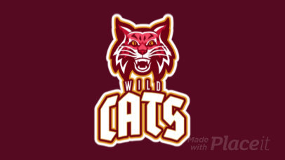 Animated Mascot Logo Maker Featuring an Aggressive Wildcat Illustration 21v-2857