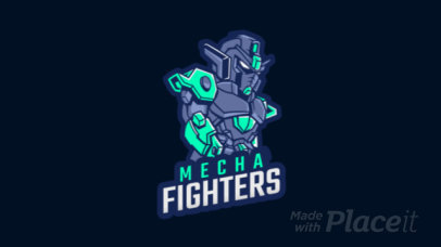 Animated Gaming Logo Template Featuring a Fighter Robot Illustration 1747aa-2857