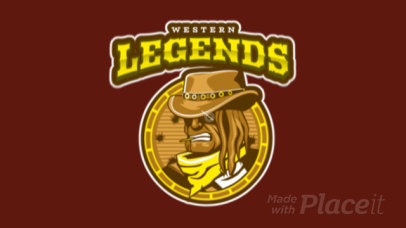 Western-Themed Animated Gaming Logo Maker Featuring a Cowboy Clipart 1869n-2857