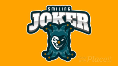 Animated eSports Logo Template with an Evil Clown Clipart 1869k-2362