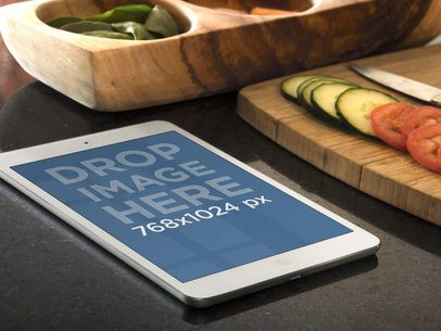 iPad Portrait On Kitchen Table