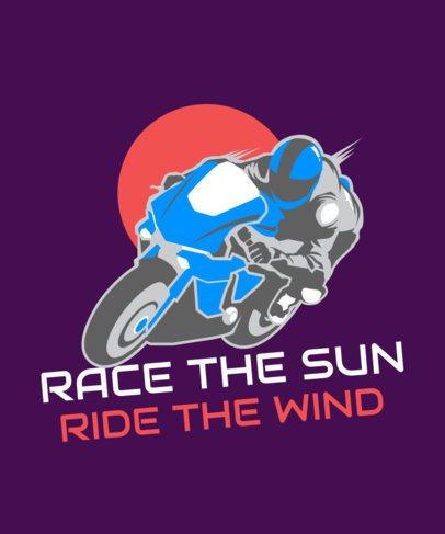 T-Shirt Design Maker with a Racing Biker Illustration 2133g