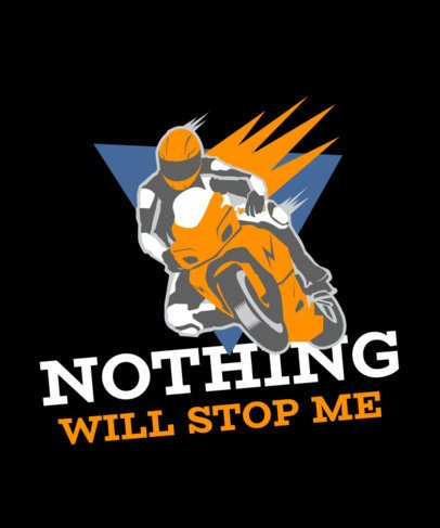 T-Shirt Design Template with a Sports Motorcycle Graphic 2133h