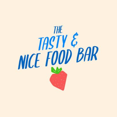 Logo Maker for a Superfood Bar with a Strawberry Graphic 2841d