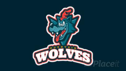 Animated Sports Logo Maker with a Cartoonish Wolf Mascot 1651f-2331