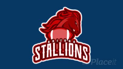 Animated American Football Sports Logo Maker 245e
