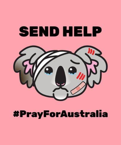 T-Shirt Design Template for an Australia Koala Rescue Donation 1921i 2159