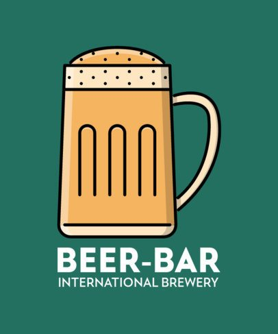 Brewery Bar T-Shirt Creator with a Beer Clipart 596a-el1