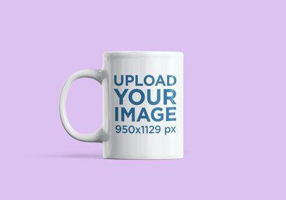 Minimalistic Mockup of an 11 oz Mug with a Customizable Background 2377-el1