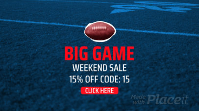 Football-Themed YouTube Ad Video Maker for a Big Game Day Promo 2015