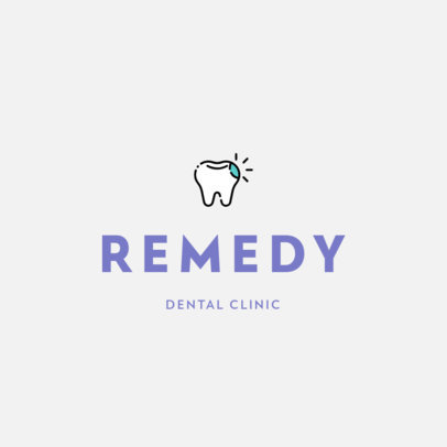 Online Logo Maker for Dental Clinics Featuring a Tooth Icon 602c-el1