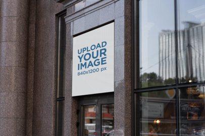 Shop Sign Mockup Featuring a Modern Building 2217-el1