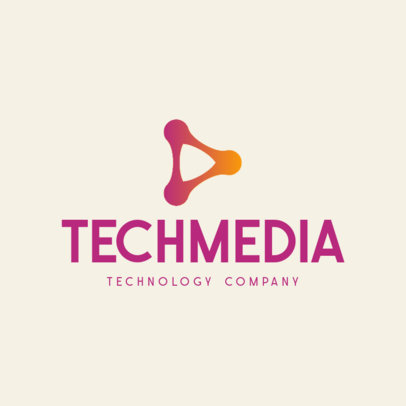 Simple Online Logo Maker for Technology Companies Featuring Abstract Graphics 597-el1