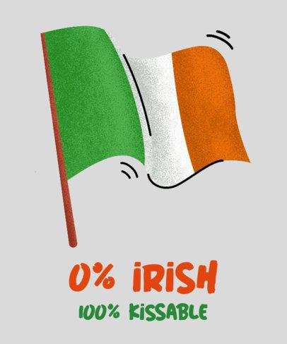 T-Shirt Design Generator with an Irish Flag 2167c