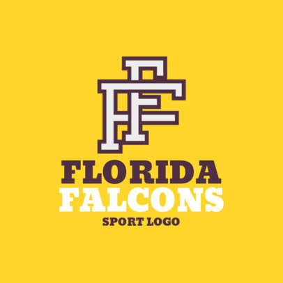 Sports Logo Template Featuring Intertwined Letters 1691f-2892