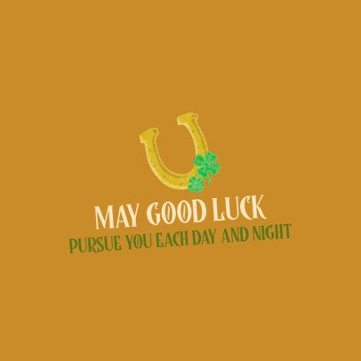 St Patricks Day Facebook Post Generator with a golden Horseshoe Graphic 2180c
