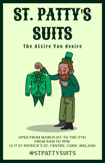 Saint Patrick's Day Flyer Maker for an Attire Store 2184a