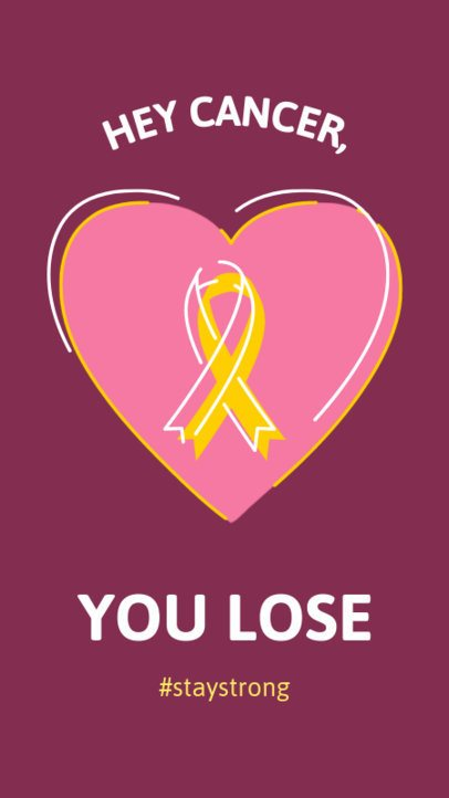 Cancer Awareness-Themed Instagram Story Maker with a Ribbon Clipart  2172d