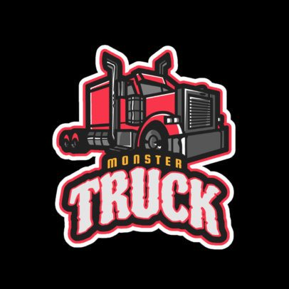 Gaming Logo Template Featuring a Truck Clipart 523cc-2883