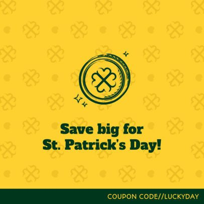 Facebook Post Creator for a St Patrick's Day Sale 2181b