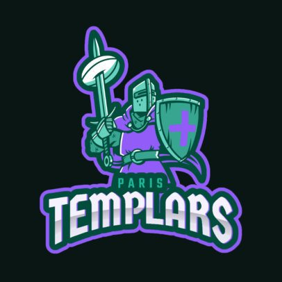 Rugby Logo Maker Featuring a Templar Knight 2613cc-2890