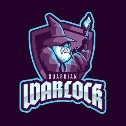 Fantasy Logo Creator Featuring a Warlock Character 2613bb-2887