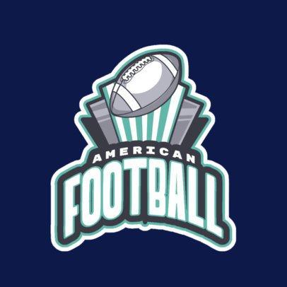 Sports Logo Maker Featuring an American Football Ball Clipart 245ll-2892