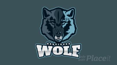 Sports Logo Maker Featuring an Animated Fierce Wolfs Face 2883p-2880