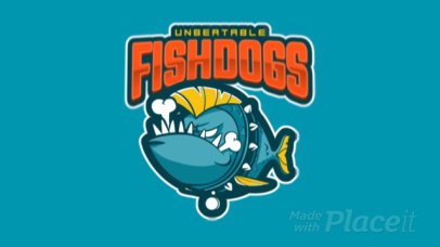 Logo Creator Featuring an Animated Cartoonish Piranha 120w-2887