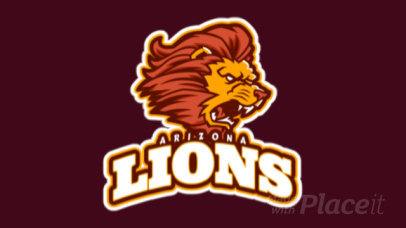 Animated Mascot Logo Maker for a Sports Team Featuring an Aggressive Lion Illustration 21dd-2889