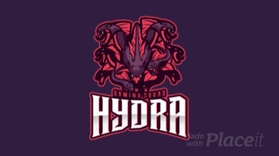 Animated Gaming Logo Maker Featuring a Hydra Illustration 1749n-2891