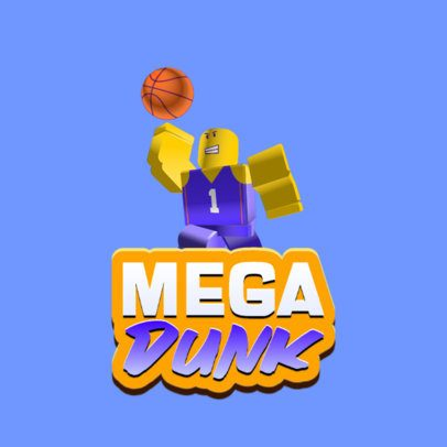 Logo Generator Inspired by Roblox for a Basketball Gaming Team 2878o