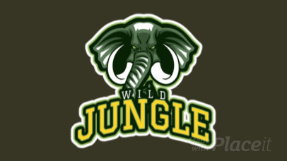 Animated Sports Logo Generator Featuring an Aggressive-Looking Elephant 21gg-2892