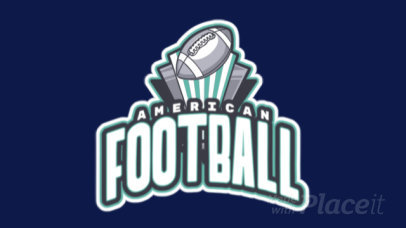 Animated Sports Logo Maker Featuring an American Football Ball Clipart 245ll-2892