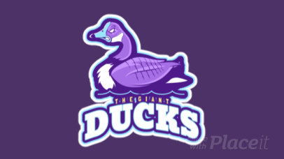 Logo Maker for a Sports Team with an Animated Aggressive Duck 21jj-2892