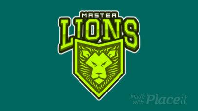 Animated Logo Maker Featuring a Lion Emblem 1869q-2888