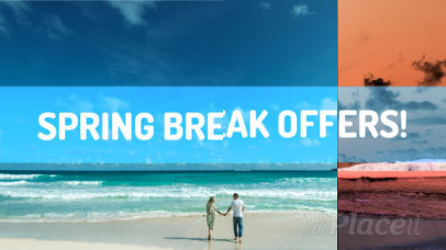 Intro Maker for a Spring Break Promo Featuring Glitch Effects 1643c-58