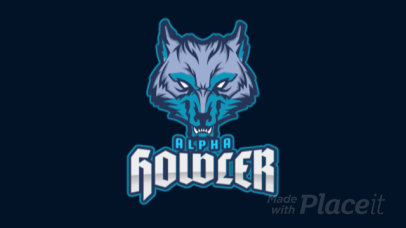 Animated Logo Generator for Sports Teams Featuring an Angry Wolf Clipart 2680q-2883