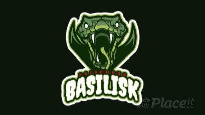 Animated Sports Logo Maker Featuring an Aggressive Basilisk Illustration 21ll-2883