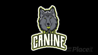 Animated Mascot Logo Maker Featuring a Wolf Face Clipart 21kk-2883