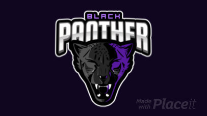 Animated Logo Generator for a Sports Team Featuring a Roaring Panther Clipart 120cc-2883