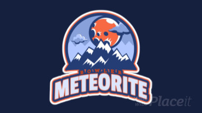 Animated Sports Logo Maker Featuring a Meteorite Illustration 523dd-2883