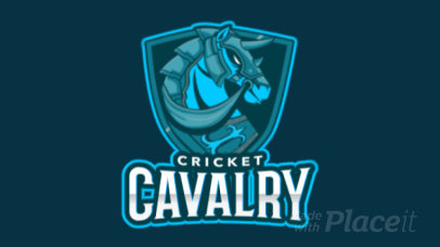 Cricket Logo Template with an Animated Horse Graphic 1652f-2881