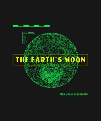 T-Shirt Design Generator Featuring a Line-Drawn Moon Graphic 246b-el1