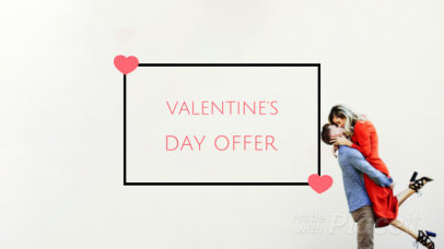 Minimal Valentine's Day Facebook Cover Video Maker Featuring a Cool Logo Animation 2041