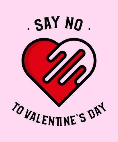 Hateful T-Shirt Design Template for Valentine's Day 698a-el1