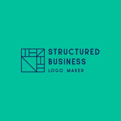 Business Logo Maker with a Squared Abstract Icon 2854e